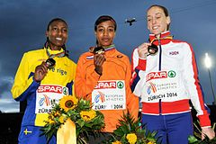 Podium 1500m women Zurich 2014.jpg