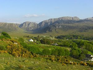 Derryveagh Mountains - The Poisoned Glen from the R251 road, County Donegal.