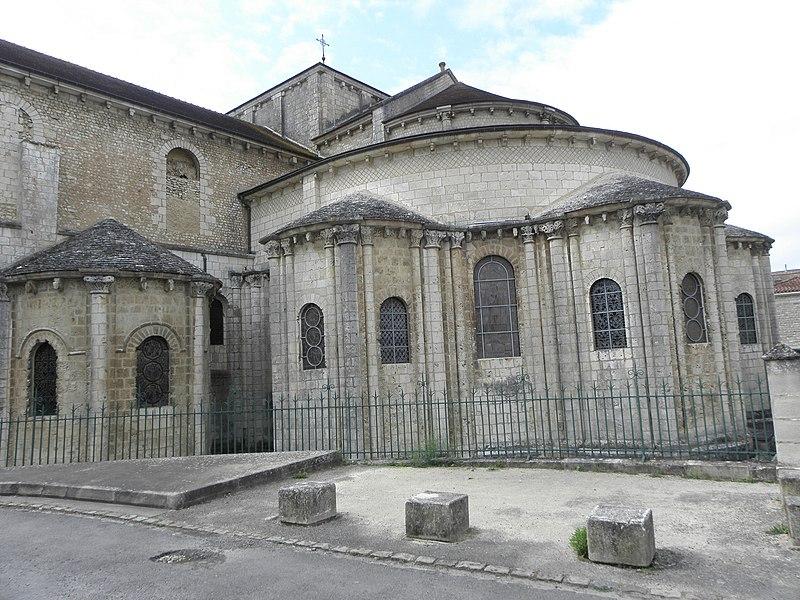 Chevet de l'église Saint-Hilaire-le-Grand à Poitiers (86).