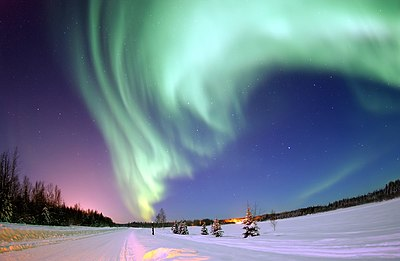 Aurore boréale en Alaska