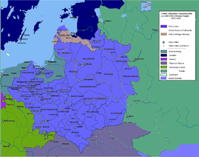 Polish–Lithuanian Commonwealth as a fief of the Ottoman Empire 1672-1676.PNG
