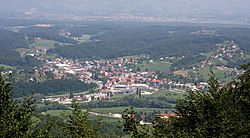 Poljčane, view from Mt. Boč