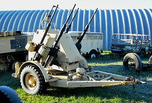 Swords and Ploughshares Museum - Polsten 20-mm towed quadruple-barrelled AA gun