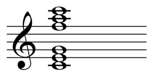 Polychord - Image: Polychord C major and F major