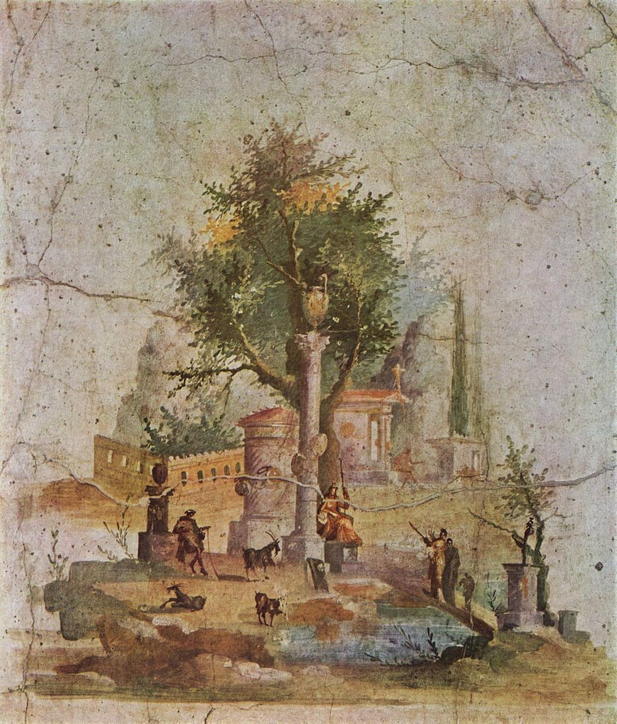 - Villa Boscotrecase - Pompeya. Segundo estilo pintura romana