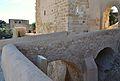 Pont sobre el fossat de l'albacar d'enmig, castell de santa Bàrbara, Alacant.JPG
