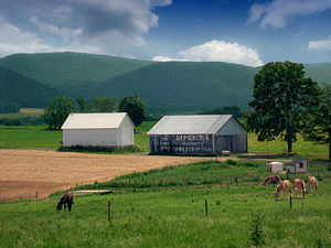 Porter Township, Clinton County, Pennsylvania - A farm in the Nittany Valley in the township