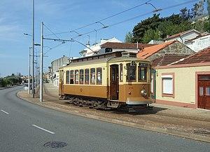 Trams in Porto - A tram on line 1