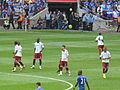 Portsmouth players center circle FA Cup Final 2010.jpg