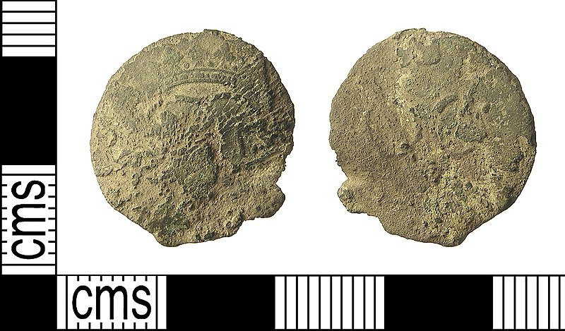 File:Post-Medieval Coin, Utrecht Duit (issued by the Dutch East India Company) (FindID 575297).jpg