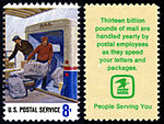 Postal Service Employees - Loading Mail - 8c 1973 issue U.S. stamp.jpg
