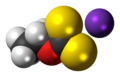 Potassium ethyl xanthate 3D spacefill.png