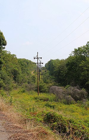 Conyngham Township, Columbia County, Pennsylvania - Power lines in Conyngham Township