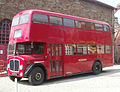 Preserved Rhondda Transport bus 457 (457 KTG) 1961 AEC Regent V Metro Cammell, Rhondda Heritage Park, 6 May 2011.jpg