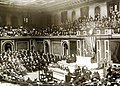 President Wilson delivers message to U.S. Congress about the German U-boat war, 1916 (36292070663).jpg