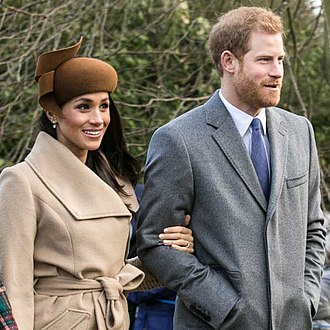 Interracial marriage - Prince Harry and fiancée Meghan Markle going to church in 2017