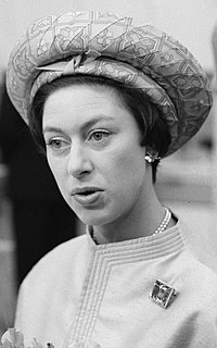 Princess Margaret, Countess of Snowdon Younger sister of Queen Elizabeth II.