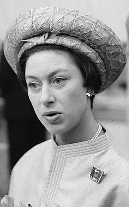 Princess Margaret, Countess of Snowdon younger daughter of King George VI and Queen Elizabeth The Queen Mother