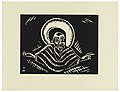 "Print, Christos o Poslednim Soude, Christ, Plate IX, ""Ethiopie, cili Christos, Madonna a Svati, jak jsem ie videl v illuminacich starych ethiopskych kodexu"" Portfolio, 1920 (CH 18684927).jpg"