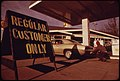 Prior to Oregon's Regulation of Gasoline Station Fuel Sales Some Dealers Attempted to Sell Only to Their Regular Customers This Driver in Portland Was a Normal Customer 01-1974 (4271761137).jpg