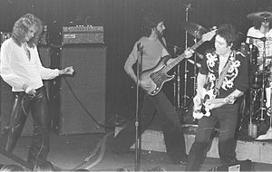 Prism (band) - Prism playing at Whisky a Go Go, in 1977. From left to right: Ron Tabak (vocals), Tom Lavin (bass), LindsayMitchell (guitar), Rocket Norton (drums)