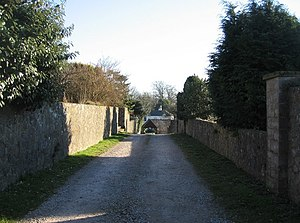 Private driveway off Blackhouse Hill