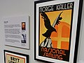 "Propaganda poster of Nasjonal Samling NS, Norw. fascist party. ""Norge kaller"". Unknown designer-illustrator 1935. Approx. 500 000 copies 1936-1945. Suncross, eagle. Exhibition in Justismuseet, Trondheim, Norway 2019-03-07 DSC08612 cropp.jpg"