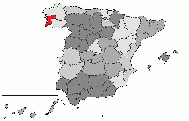 Pontevedra provintsi asendikaart
