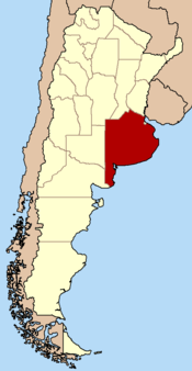 Map of Buenos Aires Province