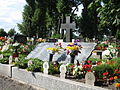 Przyszowice - tablica na zbiorowej mogile pomordowanych przez żołnierzy sowieckich 3 (Nemo5576).jpg