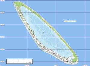 Pukarua - Map of Pukarua Atoll.
