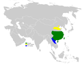 Pycnonotus sinensis distribution map.png