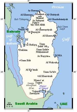 Geography of Qatar - Image: Qatar OM Cmap