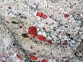 Quartzite & pebbly quartzite with jasper (Lorrain Formation, Paleoproterozoic, ~2.3 Ga; Ottertail Lake Northeast roadcut, near Bruce Mines, Ontario, Canada) 9 (47709464741).jpg