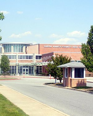Queen Anne's County High School - Image: Queen Anne's County High School (Centreville, Maryland 2008)