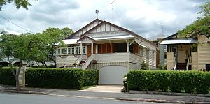 Queenslander (architecture) - An interwar Queenslander in New Farm, Brisbane.