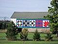 Quilt blocks on bank barn 1.JPG