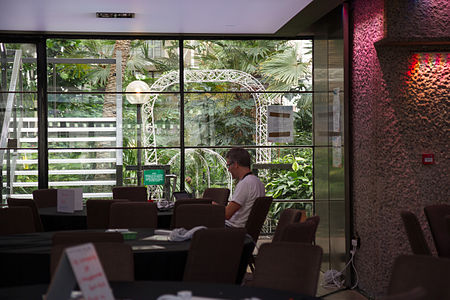 Quim Gil in the Garden Room at Wikimania 2014 (1).jpg