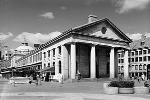 Quincy Market - Quincy Market, east side, 1987