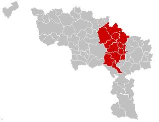 Centre region, Hainaut area in Belgium