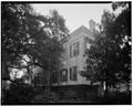 REAR VIEW, NORTH (left) AND WEST SIDES - Dr. Joseph Johnson House, 411 Craven Street, Beaufort, Beaufort County, SC HABS SC,7-BEAUF,7-6.tif