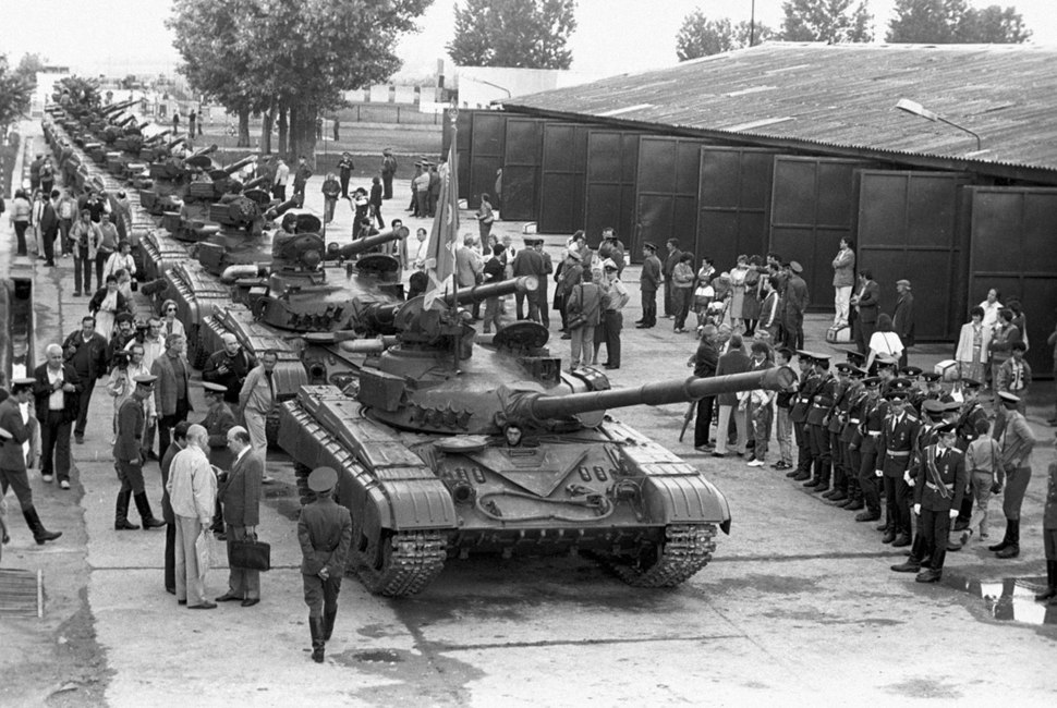 RIAN archive 825492 Military equipment leaving the country. Withdrawal of Soviet troops from Hungary