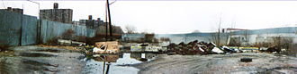 Hunts Point, Bronx - Riverside Park before clean up