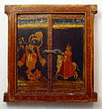 Radha Krishna, painting on wood, Crafts Museum, New Delhi.jpg
