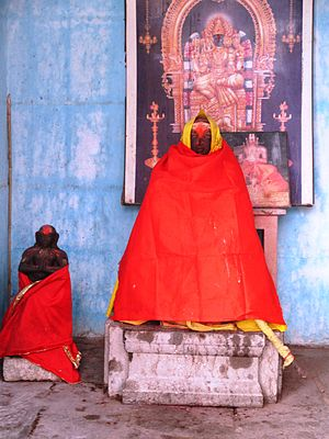 Raghunathji Temple, Devprayag - Image of Adi Shankara, who is believed to have established the temple