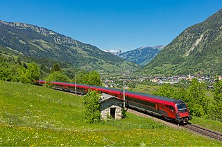 Tauern Railway Austrian railway crossing the Tauern section of the Alps