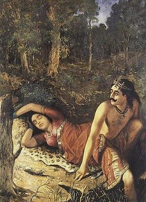 Damayanti - Image: Raja Ravi Varma Mahabharata Nala Damayanti