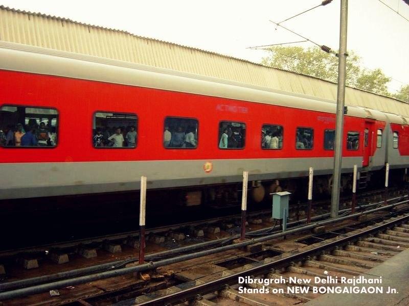 Rajdhani Express at BNGN Jn