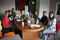 Rajeeb Dutta with Wikimedia Armenia staff at WMA office 22.10.2018 (1).jpg