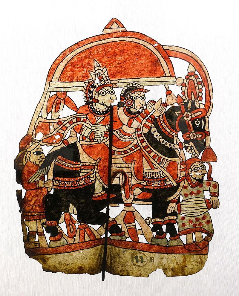 Rama and Sita astride a horse following their wedding - Museu do Oriente - Lisbon, Portugal - DSC06650.JPG